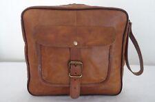 Men's Real Handmade Leather Handmade Toiletry Bag Handbag Shaving Machine Kit