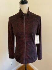 ATHLETA Shanti Jacquard Jacket NWT - MEDIUM Bark Antique Burgundy $128