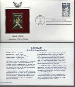 Babe Ruth-American Sports Series-1st day issue-Golden Replica