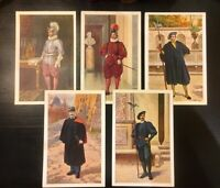 Lot of 5 Vintage Catholic Postcards - Vatican Swiss Guard