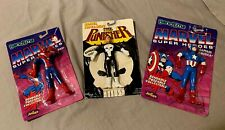 The Punisher ~ Spider-Man ~ Capt. America JusToys Bendable Figure New in Package