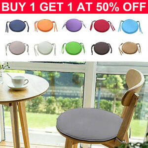 Round Garden Chair Pads Seat Cushion For Outdoor Bistro Stool Patio Home DinikY
