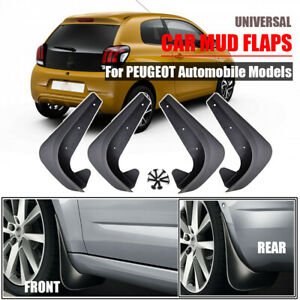 4PCS Universal Mudflaps For Peugeot Mud Flaps Splash Guards Mudguards