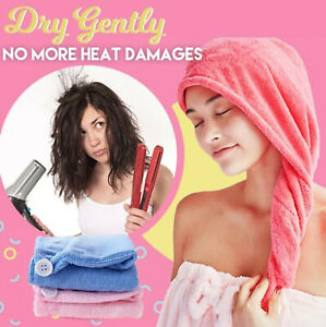 Magic Instant Dry Hair Towel Absorbent Quickly Turban Head Wrap Microfiber USA