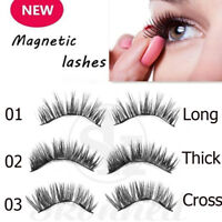 SKONHED 4 pcs lashes Premier Mink Hair 3D Magnetic False Eyelashes Full Strips