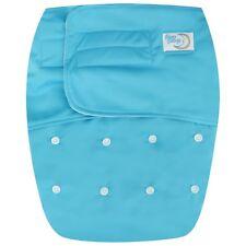 Teen / Adult Reusable Incontinence Cloth Diaper 5 layer insert Hook & Loop -Blue