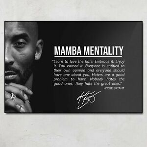 Kobe Bryant Quotes Of Life Black History Month Poster No Frame #2