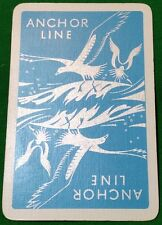 Playing Cards 1 Swap Card - Vintage Advertising ANCHOR LINE Shipping SEAGULLS 2