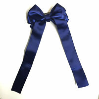New Handmade Girls Satin Ribbon Boutique Ponytail Hair Bow Clips Barrettes
