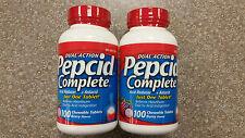 2 x Pepcid Complete 100 ct chewable berry flavor antacid dual action 200 TOTAL