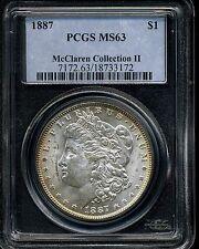 1887 $1 Morgan Silver Dollar McClaren Collection II MS63 PCGS 18733172
