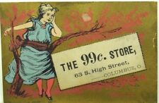 1870's The 99¢ Store, 63 S. High Street, Columbus, Ohio Victorian Trade Card P52