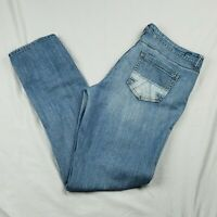 Womens American Eagle Jeans size 14 Light Wash Distressed Pockets High Rise