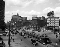 """1910's Woodward Avenue, Detroit, Michigan Vintage Photograph 8.5"""" x 11"""" Reprint"""