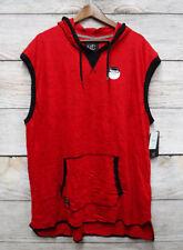 Modern Culture Mens 3XB Red & Black SLIM Fit Hooded Tank Shirt New