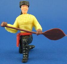 Cowboys und Indianer - Trapper mit Paddel - gelb - Ü-Ei Steckfigur 5