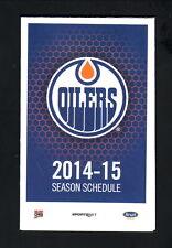 Edmonton Oilers--2014-15 Pocket Schedule--Molson Canadian