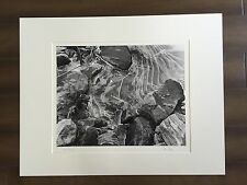 """BRUCE BLUM SIGNED Black and White Photo Print (22""""X 28"""")-""""Rocks with Ice """""""