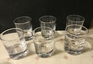 """Simon Pearce Crystal Ascutney Double Old Fashioned Tumbler 4"""" Set of 6 NICE!"""