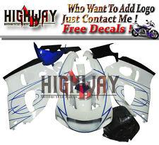 lop Fairings For Suzuki GSXR600 GSXR750 1996-1999 ABS Fairing Kit Bodywork White