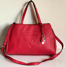 NEW! GUESS BALDWIN PARK COLLECTION RED CONVERTIBLE SATCHEL CROSSBODY SLING BAG