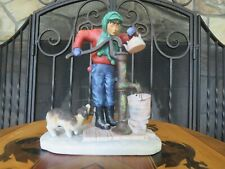 Gorham Norman Rockwell Four Seasons Winter Chilling Chore First Edition Figurine