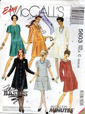 1990s McCall's Sewing Pattern 5603 Misses A-line Dresses Size 10-14