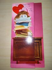 Vintage Hallmark Valentine's Day Greeting Card Doll Artist Virginia Black Unused
