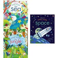 Usborne Peep Inside Series 3 Anna Milbourne 3 Books Collection Set Sea NEW