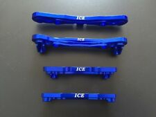 Losi 1/5 Front & Rear Alloy Pin Holders Losi 5ive Rovan LT KM X2 ICE3012 Blue