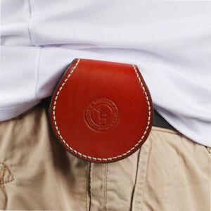 Tourbon Leather Coins Purse Utility Pouch Holder Zippered Case Wallet Belt Carry
