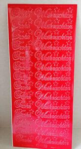 Aufkleber Stickerbogen Sticker Frohe Weihnachten rot (W67B