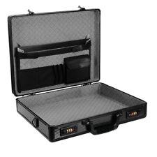 Laptop Briefcase Equipment Tools Case/Box Black Aluminium Brief Case Large Size