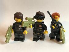 Original de piezas de Lego - 3 fuerzas especiales de la policía Personalizado Weapon Unit 2