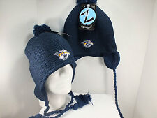 NASHVILLE PREDATORS NHL Vintage Knit Beanie winter Hat w/ tassels New by Zephyr