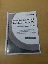 Canon Powershot Sx220 Hs completo manual de usuario guía de instrucciones impreso 206 Páginas