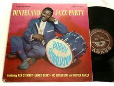BOBBY DONALDSON Dixieland Jazz Party Rex Stewart Vic Dickenson Savoy RVG LP