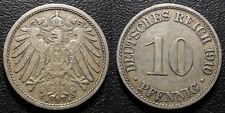 Allemagne - Wilhelm II - 10 Pfennig 1910 A, Berlin - KM#12