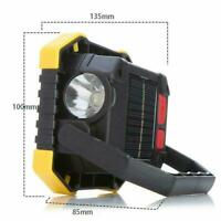180° Solar Energy LED Work Lights USB Rechargeable Flashlight Camping Lamps V4H1