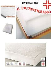 COPRIMATERASSO MATRIMONIALE 2 PIAZZE 170x190+25 IMPERMEABILE HOSPITAL  ANGOLI