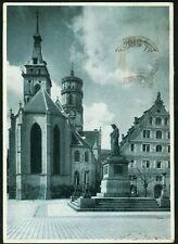 Alte AK,Schillerplatz in  Stuttgart  ,gel.1943,Briefmarke
