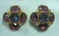 "SWAROVSKI Crystal Clip-on Earrings 1 1/4"""