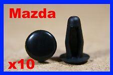 10 Nissan Mazda Fascia Panel guarnecido interior forro Board 5mm Clips Sujetador Pin
