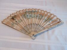 ANTIQUE COLORFUL HAND PAINTED HAND FAN
