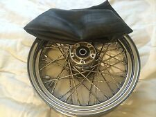 "Harley 16X3 Twisted SPOKE Front  WHEEL 3/4 "" axle with Inner tube"