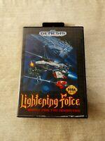 Lightening Force: Quest for the Darkstar (Sega Genesis) Box & Manual - NO GAME
