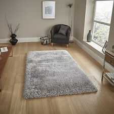 Silver Grey Small Large Modern Thick Heavy Dense Montana - Thick 8cm Shaggy Rugs
