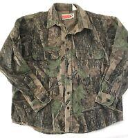 Winchester Men's Hunting Shirt Trebark Camo Button Up Long Sleeve Heavy Size L