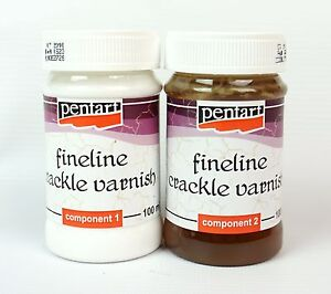 Pentart Crackle Medium Fineline for small cracks Two-Components 2x100ml Set