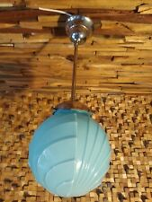 art deco ceiling lamp. 1920/30. original. Opaline globe